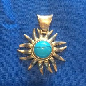 Turquoise SS Designer Pendant